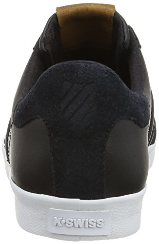 K-Swiss  Belmont M, Baskets mode pour homme Noir - Black (Black/White)