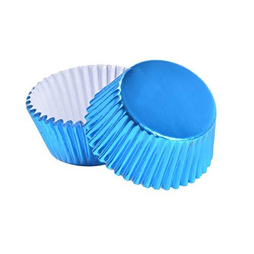 Amorar Mini Cupcake Wrappers Muffin-Backformen Muffin Liner Backpapier Schokolade Papier Süßigkeiten Cups für Party Kuchen Dekorationen Geburtstag Deko 100 Stück - Blumen Cupcake-liner