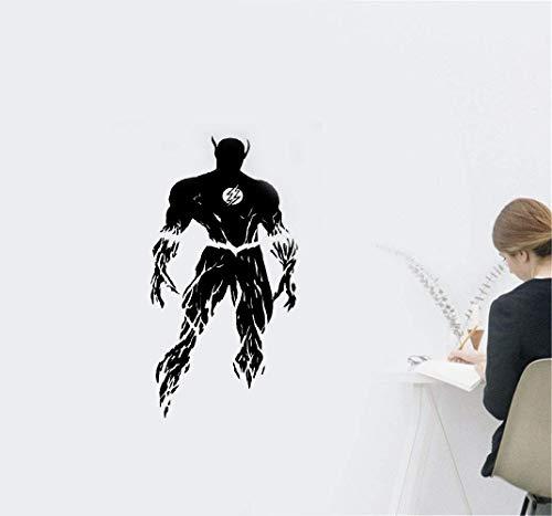(Wandtattoo Kinderzimmer Wandtattoo Wohnzimmer Flash-Flash-Superheld Comics Cartoon Poster Kinderzimmer Kinderzimmer Wanddekoration)