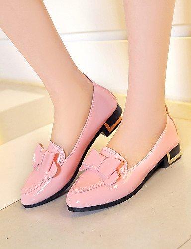 ShangYi gyht Scarpe Donna-Ballerine-Casual-Punta arrotondata-Piatto-Finta pelle-Nero / Rosa / Bianco Pink