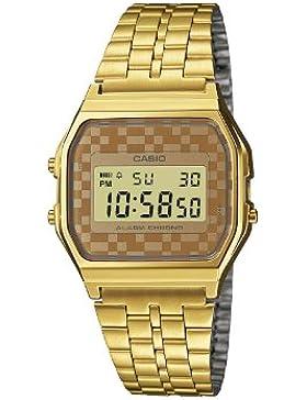 Casio Unisex-Armbanduhr Collection Digital Quarz Edelstahl A159WGEA-9AEF