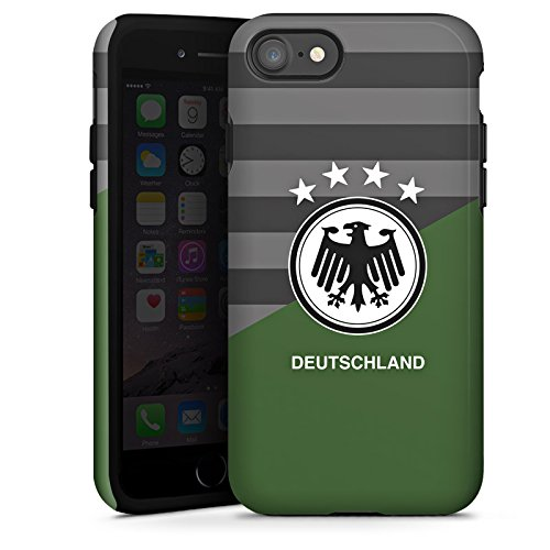 Apple iPhone X Silikon Hülle Case Schutzhülle Deutschland Auswärts EM Trikot Fußball Europameisterschaft Tough Case glänzend