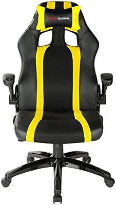 Mars Gaming MGC2 - Silla Gaming profesional (inclinación, altura y apoyabrazos regulables, ergonómica, acolchada y cómoda, ruedas)