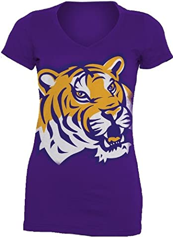 NCAA Louisiana State Tigers Gigantor Damen V-Neck Tee Shirt, Herren, Louisiana State Fightin Tigers