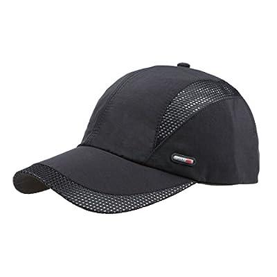 Sunbo Men Summer Quick Drying Waterproof Mesh Solid Baseball Cap