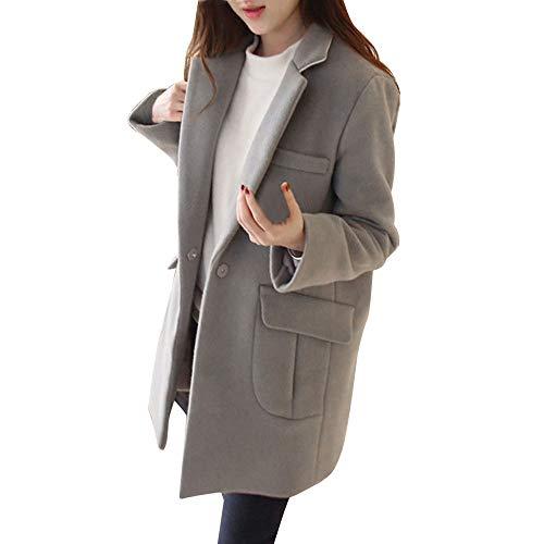 Femmes Manteau - Overmal Automne et Hiver Mode Chaud Les vêtements d'extérieur Sexy Couleur Unie Trench Coat Slim Manches Longues Wool Veste Blouson Outwear