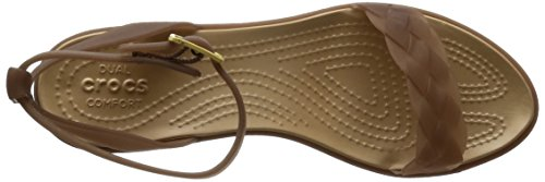 Crocs - Isabella Block Heel, Sandali infradito Donna Arancione (Bronzo/Oro)