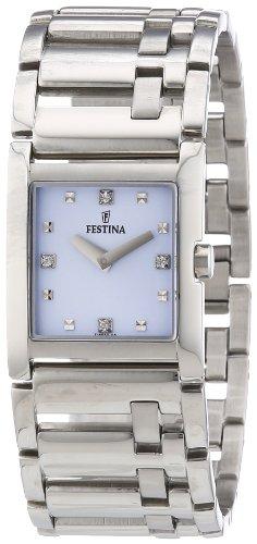 Festina Trend F16550/5 - Reloj analógico de cuarzo para mujer, correa de acero inoxidable color plateado