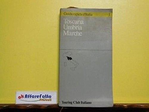 Art 8.510 touring club italiano guida toscana umbria marche 1986