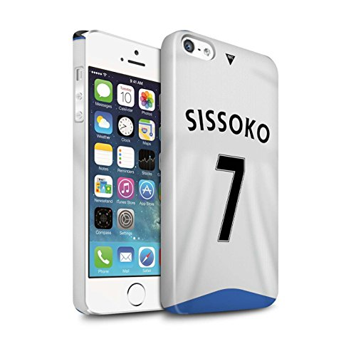 Offiziell Newcastle United FC Hülle / Glanz Snap-On Case für Apple iPhone 5/5S / Pack 29pcs Muster / NUFC Trikot Home 15/16 Kollektion Sissoko