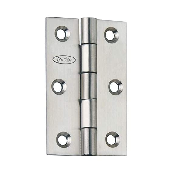 Spider Stainless Steel Door Hinges 3 inches Premium Button Type (DHB316) (Pack of 3 Pairs.)
