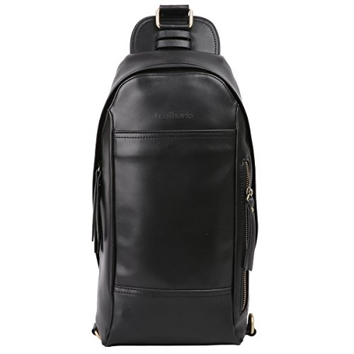 Leathario Pelle Croce Body Slim Bag borse pacco petto borsa