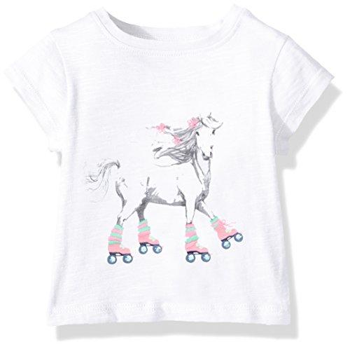 T-Shirt Mini Short Sleeve Graphic Tees Grau (Roller Skating Horse 100), 92 ()