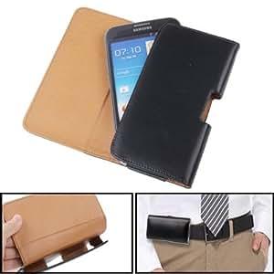 Etui housse en cuir avec clip ceinture pour Samsung Galaxy Note II / N7100
