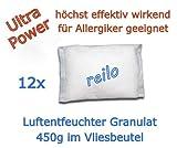 12x 450g Luftentfeuchter Raumentfeuchter Granulat im Vliesbeutel, Nachfüllpack