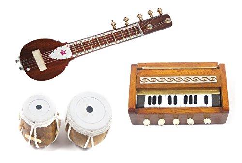 Handmade Crafted Miniature Pure Wooden Magnetic Upto 7 Inch Sitar + 1.5 Inch Tabla Set + 3.5 Inch Harmonium Beautifull Combo Pack------:--(Decorative Showpiece Gift ---:/:---- Does Not Play Sound)--:--- ये आवाज नहीं करता हे--::--ये बजता नहीं है--:--आप इश्को शोपिसेस की तरह डेकोरेशन के लिए और गिफ्टिंग की तरह यूज़ कर सकते हे---::-----  available at amazon for Rs.1249