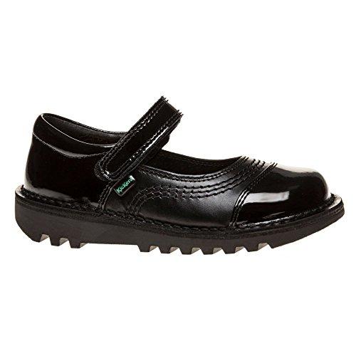 Kickers Kick Pop Patent Infants Chaussures Noir Noir