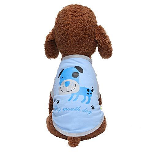 GreatFun Pet T-Shir, Haustier Kleidung Hund Kleidung Bequeme atmungsaktive Mode Muster T-Shirt Top Westen Hund Katze Kleidung Sommer Herbst T-Shirt für kleine mittlere große Größe Hunde Hund -