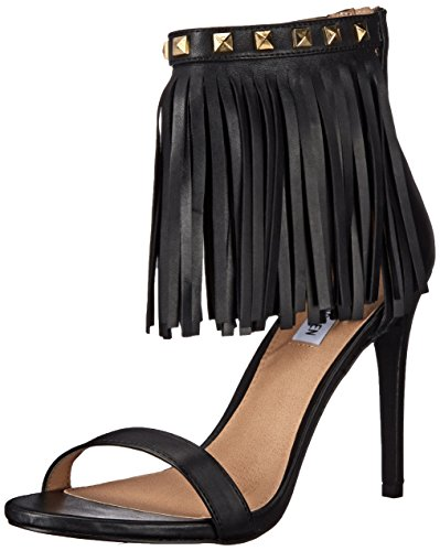 Steve Madden Siooux Dress Sandal Black Leather