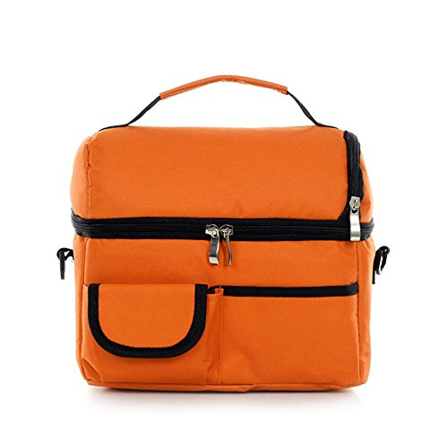 thermo - mittagessen beutel cooler isolierte lunchpaket für frauen kinder die tasche nicht essen picinic tasche handtasche schwarz - pink Orange