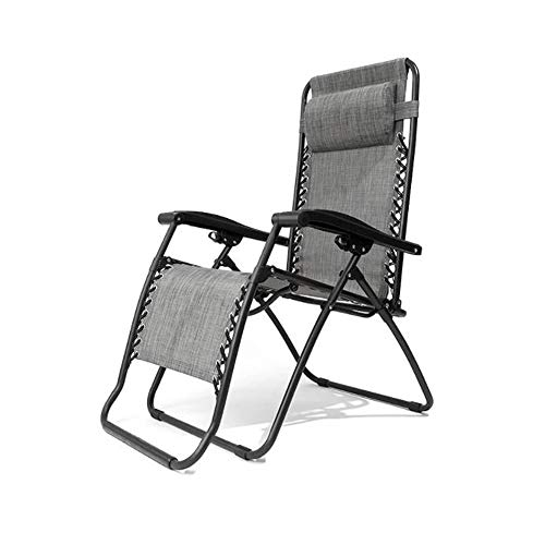 Tragbare faltbare Schwerelosigkeits-Campingstühle Verstellbarer Schwerelosigkeits-Klappstuhl mit verstellbarer Schwerelosigkeit Ruheliege mit Kopfstütze Kissen Patio Lounge Recliners Liege für Strand