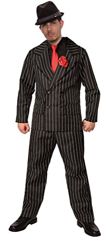 ,Karneval Klamotten' Gangster Kostüm Mafia Boss 20er Jahre Al Capone Komplett-Kostüm Herren-Anzug mit Hose Jackett inkl. Krawatte (Mafia Gangster Halloween Kostüme)