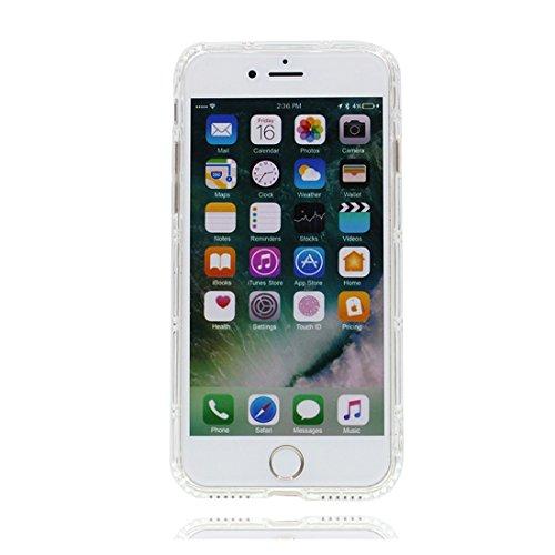 iPhone 6 Custodia, Prova di scossa anti-graffio [ Cartoon Disney sirena ] TPU Silicone Trasparente Nuovo Gel Soft Case iPhone 6/6S Custodia (4,7 pollici) durevole Cartoon Cover # # 2