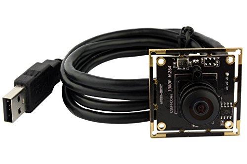 ELP Webcam 1080p H.264 USB Camera (Kamera Modul mit 180 Grad Objektiv)