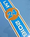 LE MANS 24 STUNDEN & KLASSISCH 2016 ORANGE und Blau MOTORHAUBE STREIFEN sticker aufkleber
