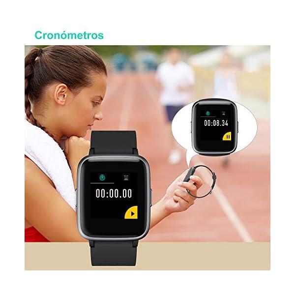 Willful Smartwatch Impermeable Reloj Inteligente con Pulsómetro, Pulsera Inteligente para Deporte con Cronómetro, Podómetro. Smartwatch Hombre Mujer Niños para Android iOS Xiaomi Huawei iPhone 2