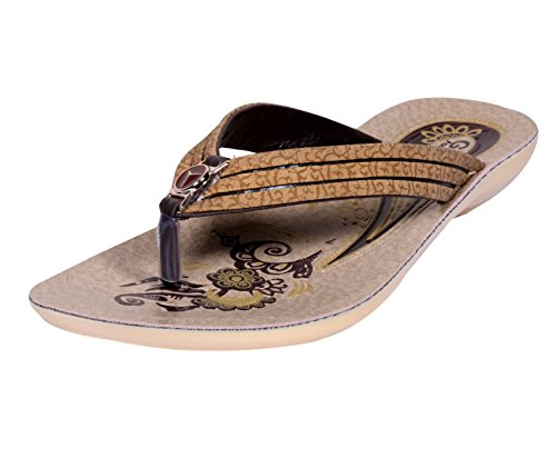 IndiWeaves Womens Cream Comfortable Flip Flop/House Slipper Size-4  available at amazon for Rs.275
