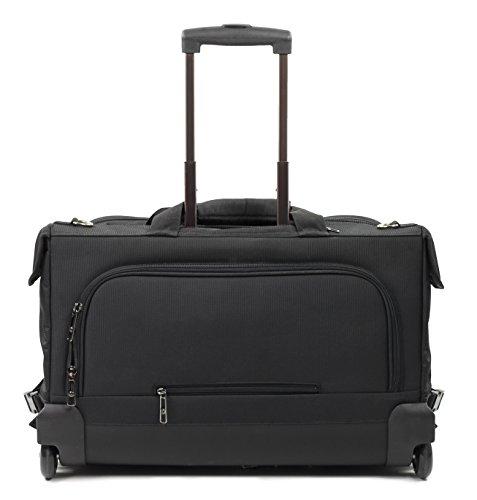Rock tres compartimentos ropa Bolsa de la compra con ruedas 54 cm, negro (Negro)