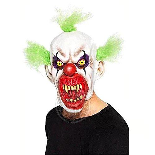 SQCOOL Halloween Haunted House verkleiden sich die Kammer, um die Maske zu stürzen Props Bloody Clown Latex Halbe Sets von (Perücke Kostüme Haunted)