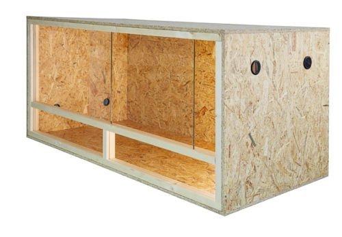 Holzterrarium mit Seitenbelüftung 100x60x60cm