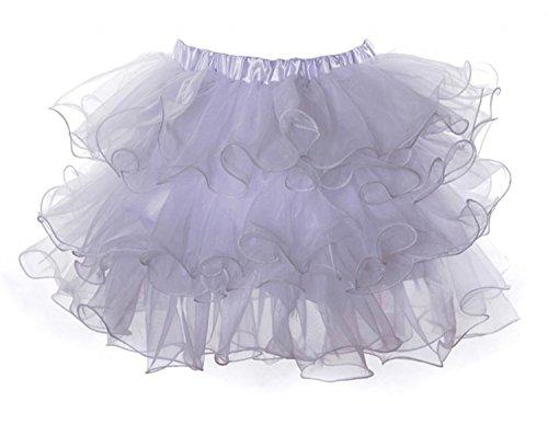 Babyicon Damen Sexy Petticoat Unterrock Tanzen Tutu Korsett Röcke Kostüme (S/M, Weiß) (Weiß Korsett Tutu Erwachsene Kostüme Kleid)