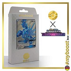 Dialga-GX 125/131 Full Art - #myboost X Sonne & Mond 6 Grauen Der Lichtfinsternis - Box de 10 Cartas Pokémon Aleman