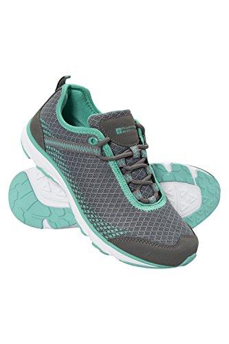 Zapatillas De Running Mountain Warehouse Boost Para Mujer - Durable, Transpirable, Sintético Y De Red, Forro De Malla De Tela Gris