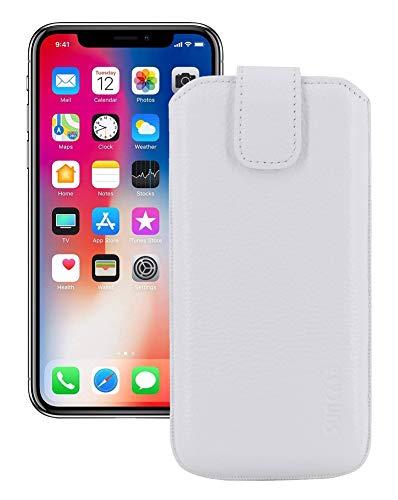 Suncase ECHT Leder Tasche für iPhone XR (6.1
