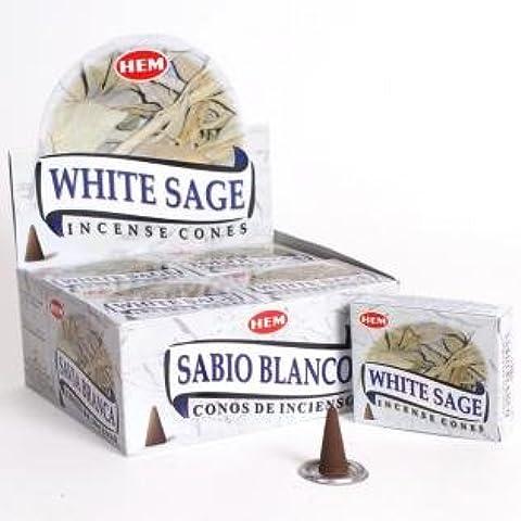Unidades blanca de alta calidad Sage conos de incienso - conos de 10 unidades - Hexbug - muy