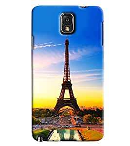 Omnam Paris Eiffil Tower Effect Printed Designer Back Cover Case For Samsung Galaxy Note 3