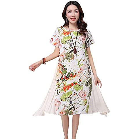 Fuyong Donna Casual Retro Fluid Systems Dress