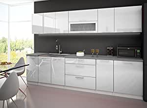 cuisine complete 3m laquee blanc avec plan de travail cuisine maison. Black Bedroom Furniture Sets. Home Design Ideas