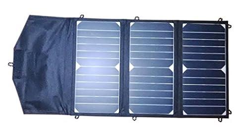 SUNPOWER Cellule solaire 18W Chargeur solaire pliable + 10Contrôleur Solaire pour 12V voiture/bateau/Yacht/Jetski Batterie + (Jet Ski Boat)
