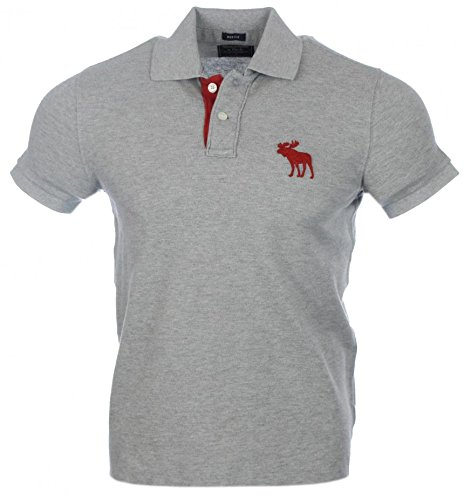 abercrombie-fitch-herren-kurzarm-polo-grau-rotes-logo-muscle-s