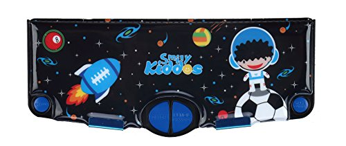 Smily Kiddos Pop Out Pencil Box (Black) | Multi Functional Pencil Box for Kids, Boys and Girls | Pencil Cases for Kids Boys and Girls | Best Return Gifts for School Kids Boys and Girls