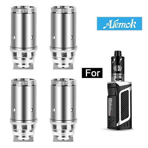 Aiemok Résistance de cigarette électronique 0.5ohm, pack de 4 par Vaporcombo pour Aiemok E-cigarette 80w, Sans Nicotine Ni Tabac (1)