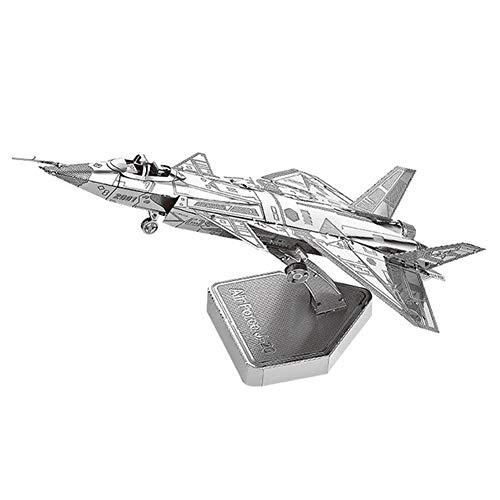 3D Metall Puzzle Kämpfer Air Force J20 Jets Modell Kit DIY Laser Cut Montieren Puzzle Spielzeug Geschenk