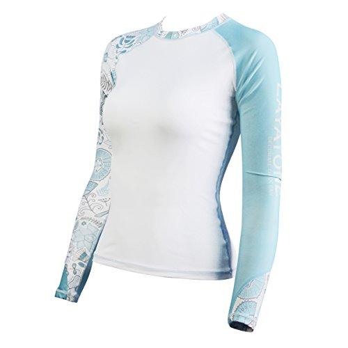 LayaTone Bañadores Mujer Mangas Largas Camiseta Lycra Mujer Piel de Buceo Corriendo Fitness Playa Surf Snorkel Proteger La Camiseta Manga Larga