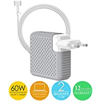 """SIXNWELL Chargeur Macbook Pro, Chargeur Macbook, 60W MagSafe 2 Power Adaptateur Chargeur pour MacBook Pro Retina Display (à partir de fin 2012) - Fonctionne avec 45W / 60W MacBooks 11 """" & 13 """" Pouces"""