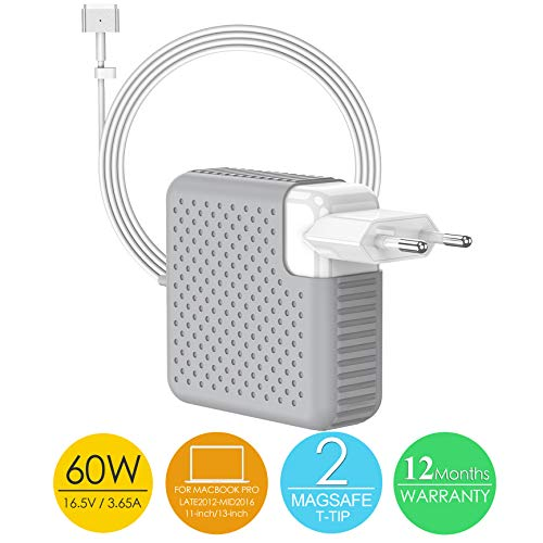 BETIONE Cargador Mac Pro, Adaptador de Corriente MagSafe 2 60W para Mac Book Pro...